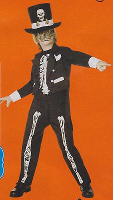 Steampunk Boy Costume (WITCH DOCTOR COSTUME Child Boys Medium Small Mask Bones Steampunk Kids Black)