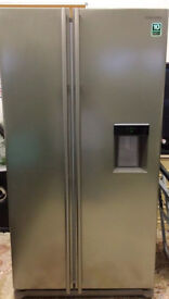Samsung American Fridge Freezer, Platinum Inox (brushed stainless) water chiller, no plumbing needed