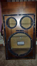Solid Wood effect Speaker cases (PAIR) 64cm x 36cm x 28cm (H x W x D)