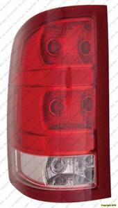 Tail Lamp Driver Side 2Nd Design Exclude Dually Without Dark Red Trim With Small 921 Back-Up Bulb High Quality GMC Sierr