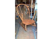 Blonde Ercol Rocking Chair