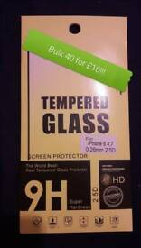 Top quality tempered glass screen protectors for iPhone 40 for £16!!!!!