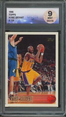 1996 Topps #138 Kobe Bryant RC Rookie Mint DGA 9