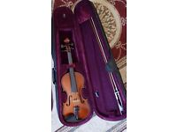 BEAUTIFUL Alfred Stingl Hofner Violin 4/4 with shoulder rest, tuner and rosin.