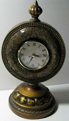 Vintage Decorative Wood Quartz Table Clock Mantle
