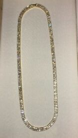 Gold iced chain