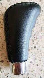 Leather gear knob