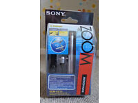 Sony ECM-CZ10 Zoom Electret Condenser Microphone, Uni-Directional High Quality Sound, New & Boxed