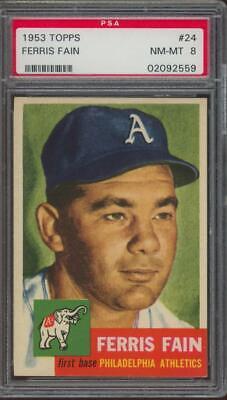 1953 Topps #24 Ferris Fain NM-MT PSA 8