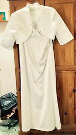 Heavy Ivory Satin Wedding Dress size 20 BNWT