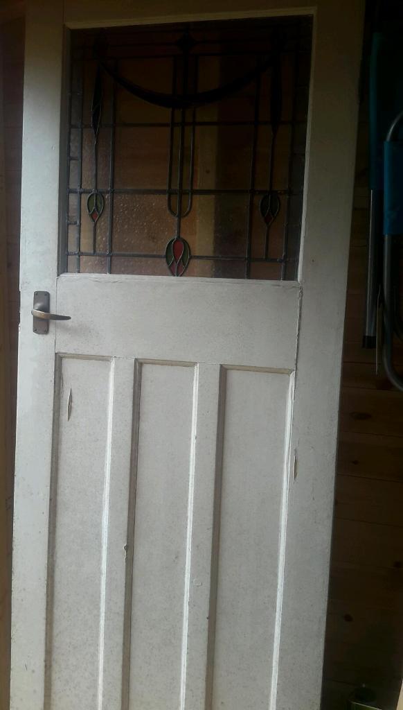 Old Leaded Glass Door In Norwich Norfolk Gumtree