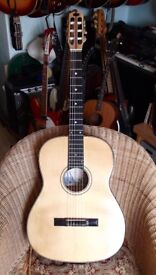 VERY RARE HAND MADE NYLON STRING GUITAR BY MASETTI, ITALY, 1960. COLLECTORS ITEM