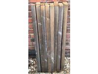 "16 x Solid Wood Square Spindles 41mm x 900mm Handrail & Bottom Rail 94"""