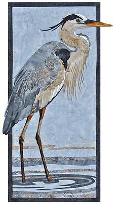 Great Blue Heron Shore Bird Toni Whitney Fusible Applique Quilt Pattern