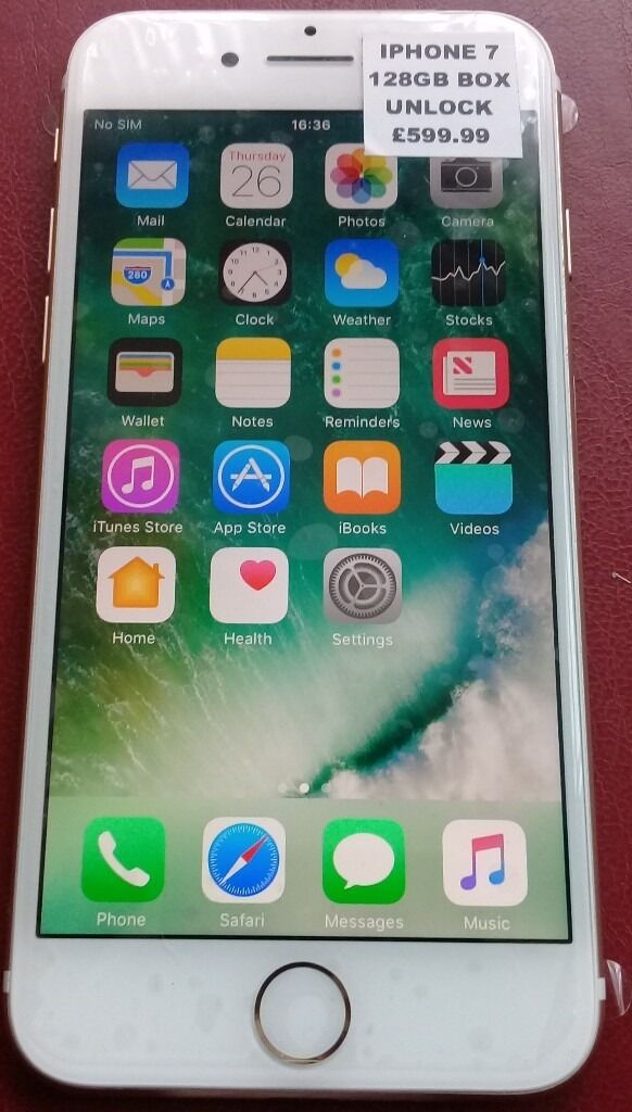 iphone 7, 128GB, Brand New, Unlocked, 1 Year Apple Warrantyin East Ham, LondonGumtree - Hi I am selling a Brand New iPhone , 128GB in Silver Phone Comes with a Free Charger, No Box Fully working order and its Unlocked to all network 1 Year Apple warranty £530 No Offers, No Swaps, Many Thanks Call Muhammed on 07917180643 please text if...