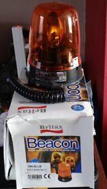 Unused Britax 394.00.LB Orange Beacon, 12 & 24volt