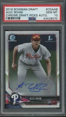 2018 Bowman Chrome Alec Bohm Auto RC Rookie Gem Mint PSA 10