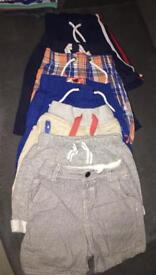 7 Boys summer shorts and 12 t shirts 12-18 months