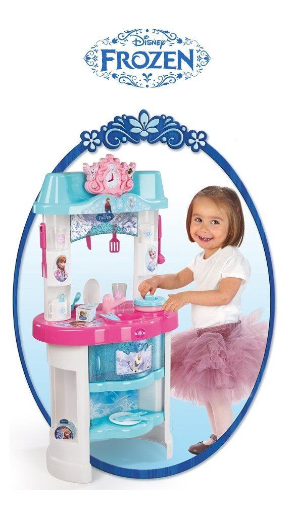 Disney Frozen Kitchen With 22 Accessories Play Set Olaf Elsa Anna