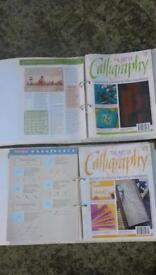 calligraphy series of magazines