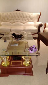 Leather Chairs, Sofa set, TV Stand and Coffee Tables