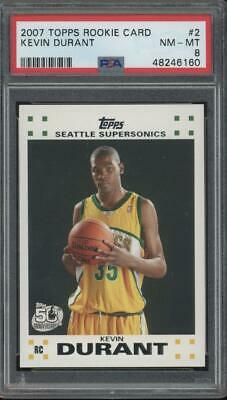 2007 Topps 50th Anniversary #2 Kevin Durant RC Rookie PSA 8