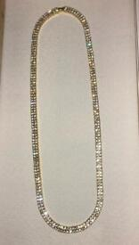 Gold iced double tennis chain