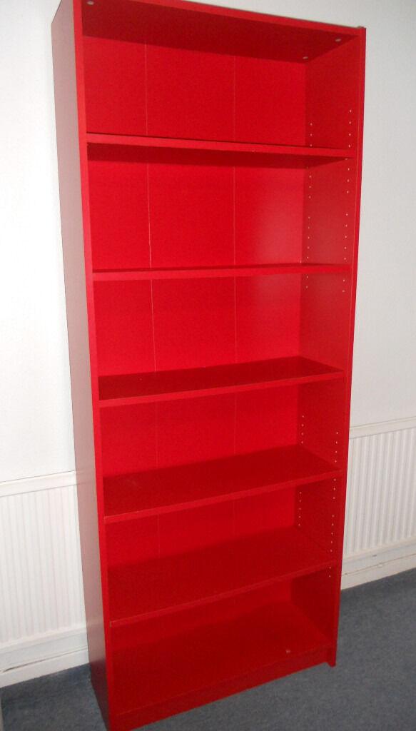 Red Billy Shelving Unit Bookcase Ikea In Llanishen