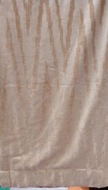 Gold zig zag curtains