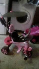 Child's pink trike
