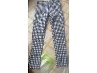 Checkered work trousers