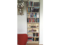 Ikea 8 Shelf bookshelf shelving unit. Beech/cream/metal shaped bars. V.Good condition OPEN TO OFFERS