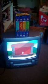 Color Tv With Built in video player Plus full series of south park A bargain at only £5