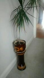 Beautiful jardiniere plant pot with majolica type glaze