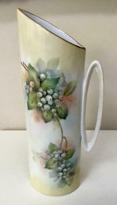 Beautiful Atq. Vtg. Alboth Kaiser Bavaria Pitcher/ Vase Snowberries Signed - $29.99