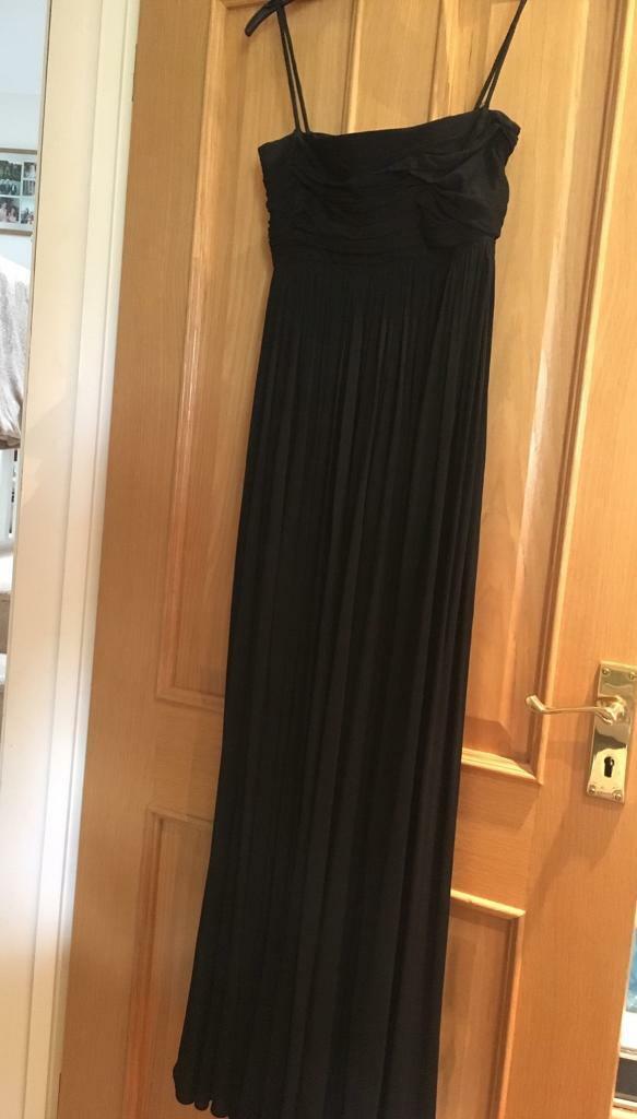 4da18ec6d98d Simple floor length black evening / prom dress size 6/8 | in Romsey ...