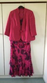 Jacques Vert cerise pink co-ordinate outfit