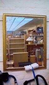 Large Gilt Framed Wall Mirror #29709 £50