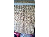 Water hyacinth linen basket