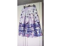 Picture print skirt