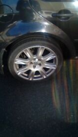 """BBS rare 17"""" wheels with good tyres 5x100"""