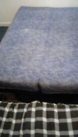 Double Sofabed in blue /used once in good condition