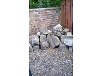 Assortment of rockery stones