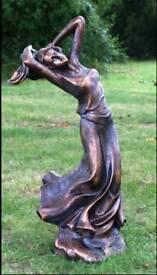 One Poppy, resin/marble garden ornament, statue sculpture