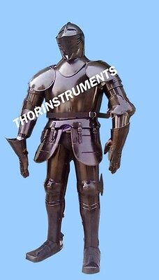 Full Body Armour Suit Collectable Medieval Knight Costume of Armor 17th Century