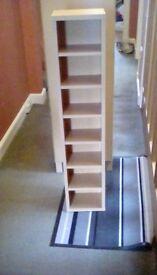 Light wood CD/shelving unit