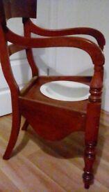 Wooden comode chair