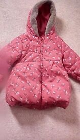 Girls bluezoo winter coat lovely condition age 4-5 years colour red