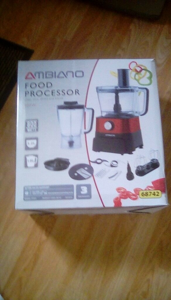 Ambiano 800w food processor. Still in box, brand new