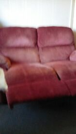 2seater recliner settee Free
